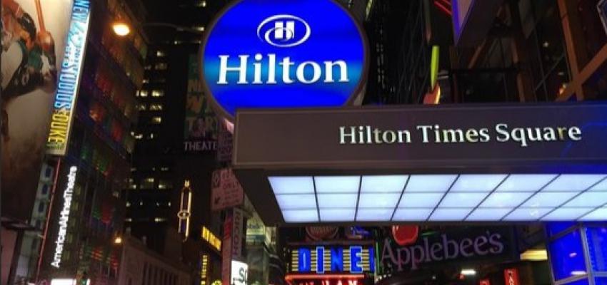 """Закрытие Hilton Times Square может стать """"вершиной айсберга"""" неприятностей, с которыми сталкиваются нью-йоркские отели."""