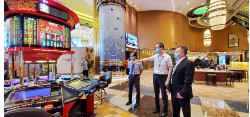 MACAU GAMBLING WATCHDOG (DICJ) INSPECTS IMPLEMENTATION OF NEW COVID-19 PREVENTION MEASURES